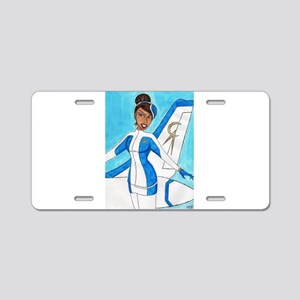 Come Fly With Us Aluminum License Plate